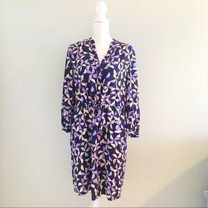 Kate Spade Spinner Silk Drawstring Shirt Dress